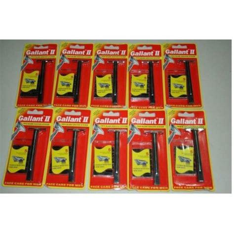 10 Gallant Razor 50 Blades fit Gillette Trac Schick Super