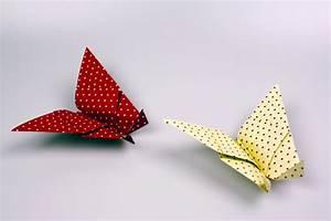 Origami Schmetterling Anleitung : origami schmetterling craftbnb ~ Frokenaadalensverden.com Haus und Dekorationen