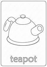 Teapot Coloring Printable Pdf Coloringoo sketch template