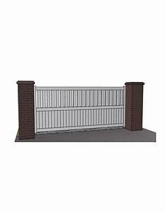 Portail Alu Coulissant : portail coulissant aluminium semi ajour droit technal l ~ Edinachiropracticcenter.com Idées de Décoration