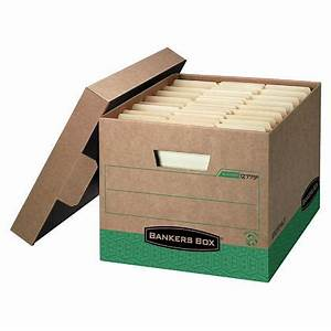 Bankers boxr recycled r kiver letter legal size heavy duty for Letter legal size storage boxes