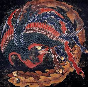 Phoenix - Katsushika Hokusai - WikiArt.org - encyclopedia ...
