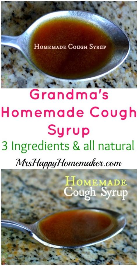 grandmas homemade cough syrup  ingredients