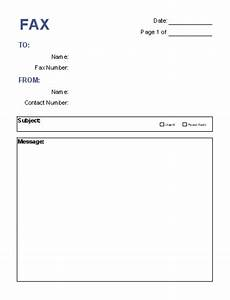Free printable fax cover sheet pdf word template sample for Fax cover letter