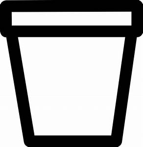 Flower Pot Outline Clipart - Clipart Suggest