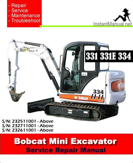 manual  repair maintenance troubleshooting procedures  bobcat mini excavator