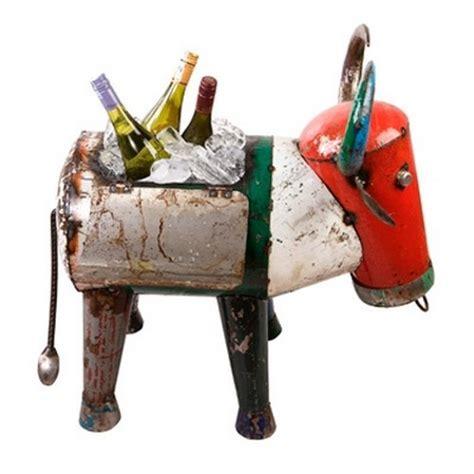 eeieeio metal animals bruce  bull drink esky cooler