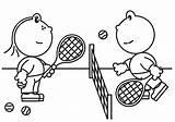 Tennis Racket Coloring Pages Getcolorings Frokkie Lola Printable sketch template