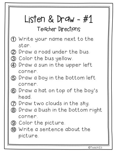153 Best Images About Listening Skillsfollowing Directions On Pinterest