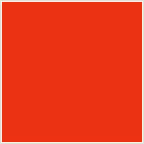 pomegranate color eb3313 hex color rgb 235 51 19 pomegranate