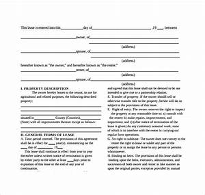 farm lease agreement template 28 images simple lease With farm rental agreement template