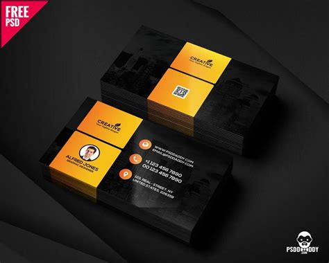 graphic designer business card  psd psddaddycom