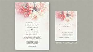 Read more watercolor flowers blush pink wedding for Wedding invitation designs fuchsia pink