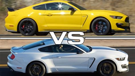 Gt500 Vs Gt350 by 2016 Ford Mustang Shelby Gt350r Vs 2016 Ford Mustang