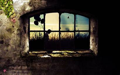 Locked Grille Leaves Stone Window