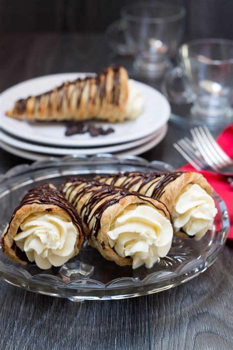 dark chocolate cream horns errens kitchen