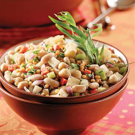 comment cuisiner les haricots blancs salade de légumineuses aux haricots blancs recettes