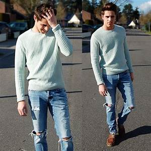 Zara Pastel Green Sweater, Hollister Co. Ripped Jeans ...