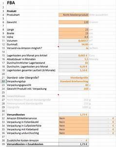 Variable Kosten Berechnen Formel : amazon fba excel rechner zur produktkalkulation ~ Themetempest.com Abrechnung