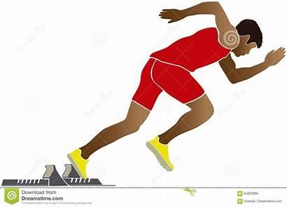 Sprinter Runner Start Vector Illustration Starting Clipart