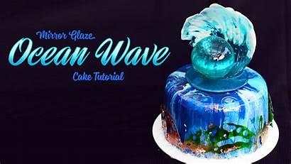 Mirror Glaze Cake Ocean Wave Sugar Geek