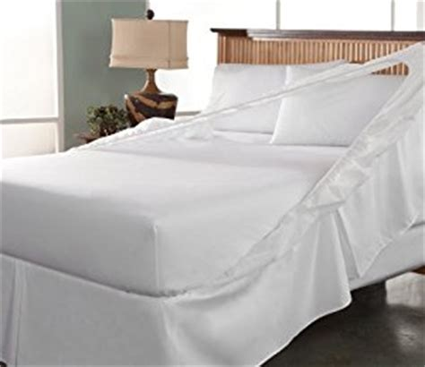 amazon com perfect fit easy on easy off bed skirt and box