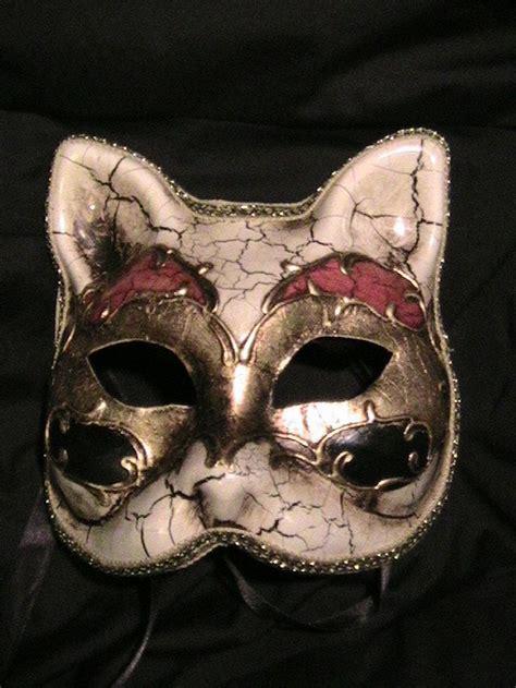 venetian cat mask harlequin cat mask paper faces on parade