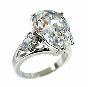 the look of real 5ctw pear clear cubic zirconia ring bridal With cubic zirconia wedding rings that look real