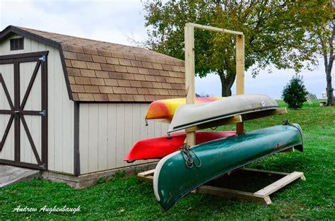 kayak storage rack building a kayak rackaugie s adventures