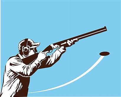 Skeet Shooter Vector Shooting Clip Illustrations Illustration