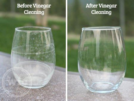 water and vinegar to clean removing hard water stains with heinz apple cider vinegar