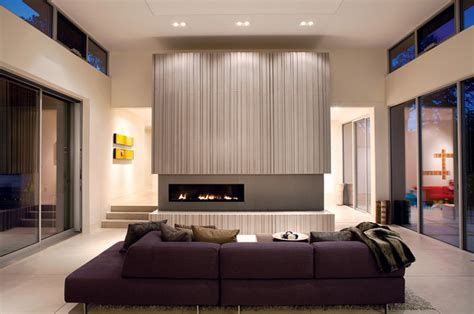 Modern Living Room With Fireplace Ideas by Warm And Modern Fireplace Modern Living Room San
