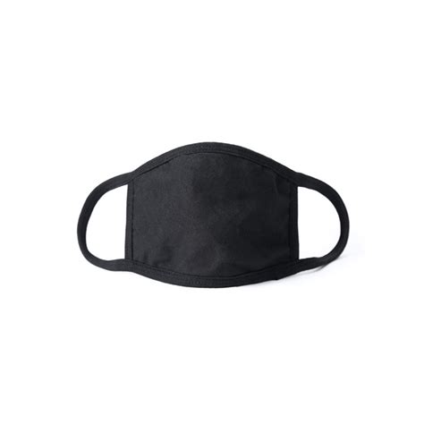 3-Ply Black Cotton Mask Blank | Promotionalbands