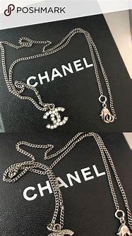 Authentic Chanel diamond logo necklace   Chanel jewelry ...