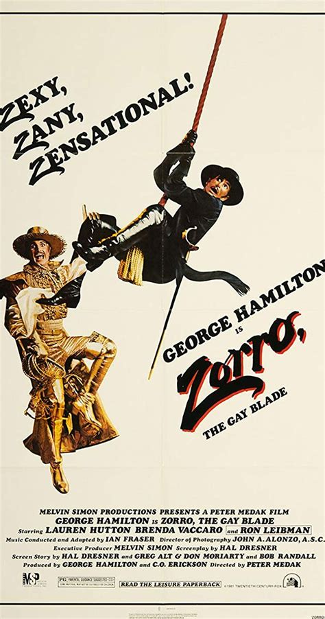 zorro gay blade poster movie imdb 1981 hamilton george sexy 24x36 zorros locos duas faces zany alternative garcias secret comic