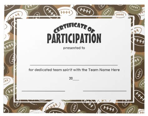 participation  sports certificate templates psd