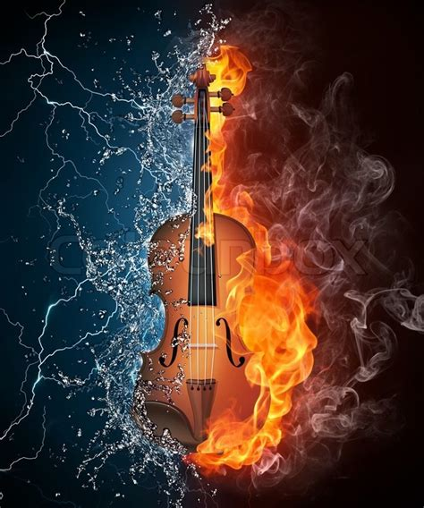Ultimate guitar pro is a premium guitar tab service, available on pc, mac, ios and android. Violin in Fire and Water Isolated on Black Background ...