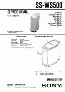 Sony Ss-ws500 Service Manual
