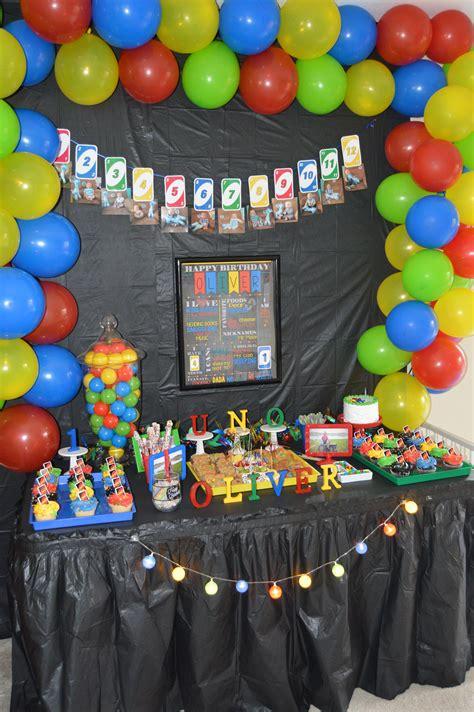 Uno Party Boy birthday party themes Boy birthday