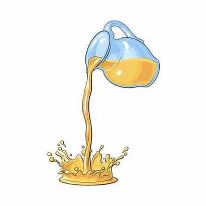 Lemon Squeezing Clip Vector Pouring Juice Orange
