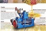 Expulsor de aceite de la prensa de aceite mecánica Cocount Molino de aceite de cocina – Expulsor ...