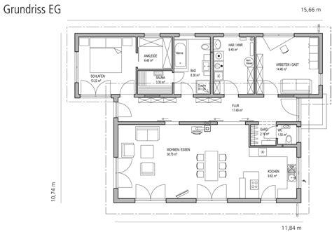 Pultdach Bungalow Grundrisse by Bungalow Pultdach 123 Luxhaus Kundenhaus