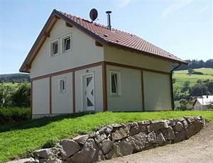 maison bois traditionnelle style poteau poutre nos maisons With energie d une maison 8 maison 224 ossature bois avec bardage canexel nos maisons
