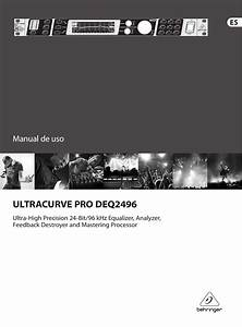 Ultracurve Pro Deq2496 Behringer User Manual  Spanish
