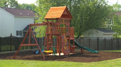 Backyard Play Set - outdoor playset installation and safety tips