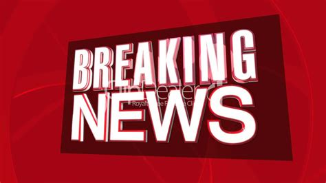 Breaking News 3D Text HD: Royalty-free video and stock footage