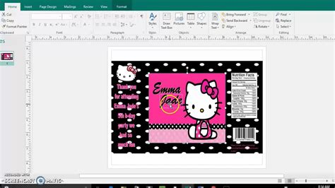 chip bag template for diy tutorial chip bag template publisher and microsoft word