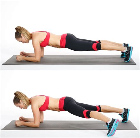 plank pictures core plank with side step the ultimate list of the best bodyweight exercises popsugar fitness