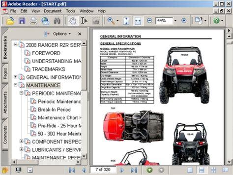 polaris rzr  service manual  manuals