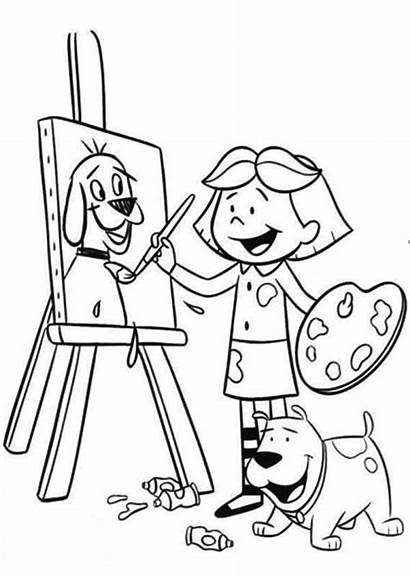 Coloring Paint Pages Dog Luther Martin King